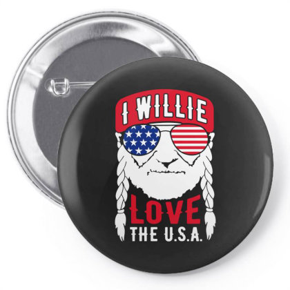 I Willie Love The Usa Pin-back Button Designed By Cosby