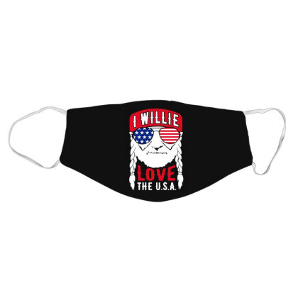 I Willie Love The Usa Face Mask Designed By Cosby