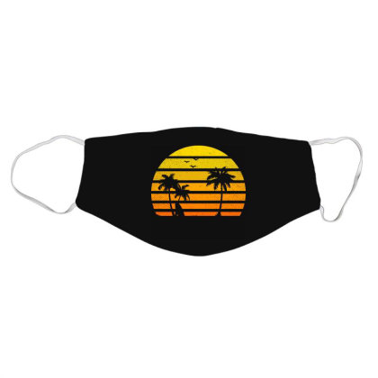 Surfing Lover Tee Vintage Sunset Vacay Mode Palm Face Mask Designed By Rishart
