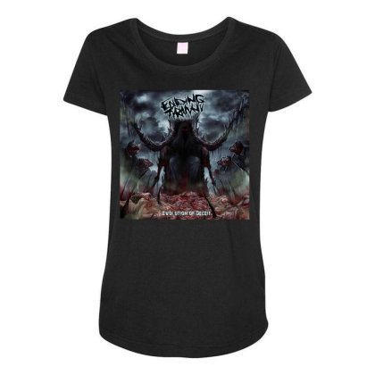 Evolution Of Deceit Maternity Scoop Neck T-shirt Designed By Princeone