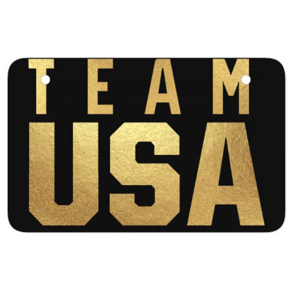 Usa Team Gold Atv License Plate Designed By Cosby