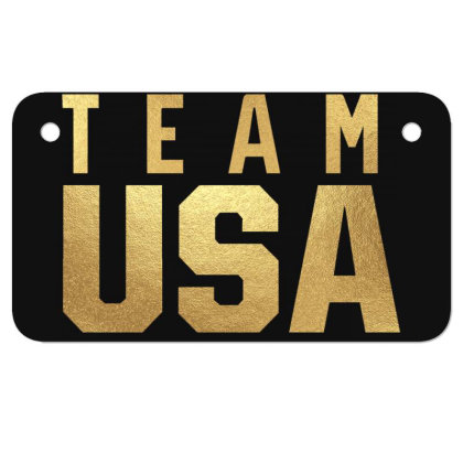 Usa Team Gold Motorcycle License Plate Designed By Cosby