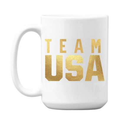 Usa Team Gold 15 Oz Coffee Mug Designed By Cosby