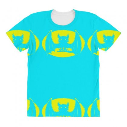 Bat Moon All Over Women's T-shirt Designed By Specstore