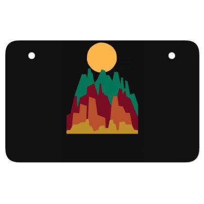 Rocky Landscape Atv License Plate Designed By Garrys4b4