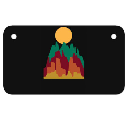 Rocky Landscape Motorcycle License Plate Designed By Garrys4b4
