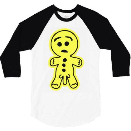 Rude Gingerread 3/4 Sleeve Shirt Designed By Garrys4b4