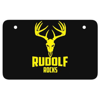 Rudolph Rocks Atv License Plate Designed By Garrys4b4