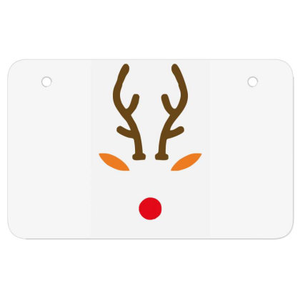 Rudolph The Red Nose Deer Atv License Plate Designed By Garrys4b4