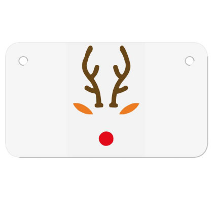 Rudolph The Red Nose Deer Motorcycle License Plate Designed By Garrys4b4