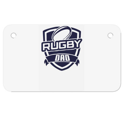 Rugby Dad Motorcycle License Plate Designed By Garrys4b4