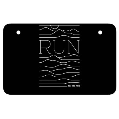 Run For The Hills Atv License Plate Designed By Garrys4b4