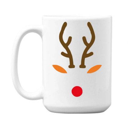 Rudolph The Red Nose Deer 15 Oz Coffee Mug Designed By Garrys4b4
