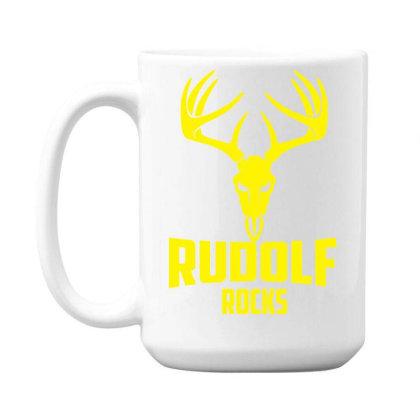 Rudolph Rocks 15 Oz Coffee Mug Designed By Garrys4b4