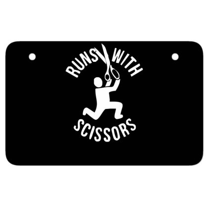 Run Swith Scissors Atv License Plate Designed By Garrys4b4
