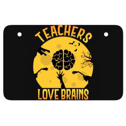 Teachers Lover Brains Halloween Tee Teaching Atv License Plate Designed By Rishart