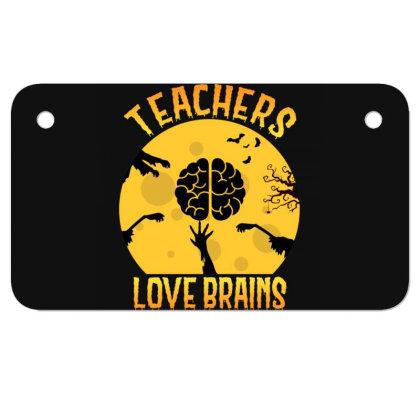 Teachers Lover Brains Halloween Tee Teaching Motorcycle License Plate Designed By Rishart