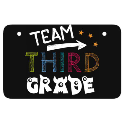 Team 3rd Third Grade Tee Awesome Teacher Back To School Atv License Plate Designed By Rishart
