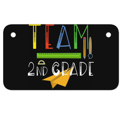 Team Second Grade Teachers & Students First Day Of School Motorcycle License Plate Designed By Rishart