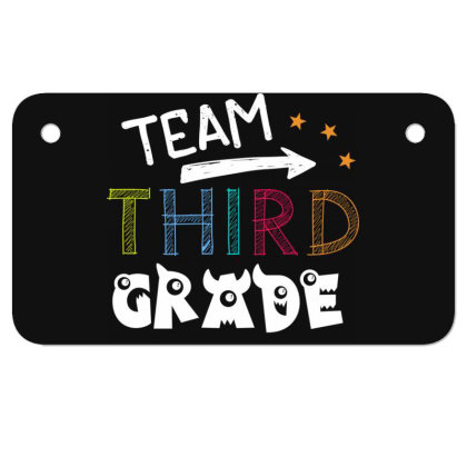 Team 3rd Third Grade Tee Awesome Teacher Back To School Motorcycle License Plate Designed By Rishart
