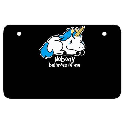 Sad Unicorn Crying Atv License Plate Designed By Garrys4b4