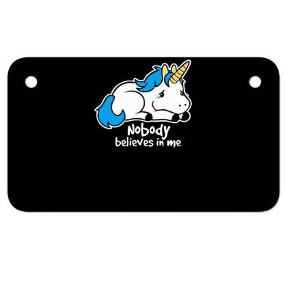 Sad Unicorn Crying Motorcycle License Plate Designed By Garrys4b4