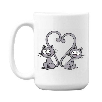 Valentine's Day Cat 15 Oz Coffee Mug Designed By Faruken
