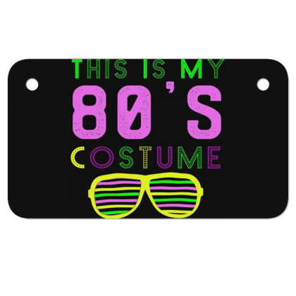 This Is My 80s Costume Great Motorcycle License Plate Designed By Rishart