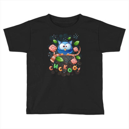 Cuckoo Owl Bird Toddler T-shirt Designed By Rishart