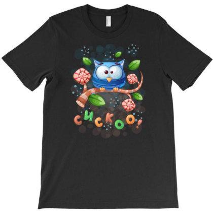 Cuckoo Owl Bird T-shirt Designed By Rishart
