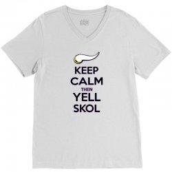 Keep Calm Then Yell Skoll V-Neck Tee | Artistshot