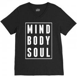 Mind Body Soul V-Neck Tee   Artistshot