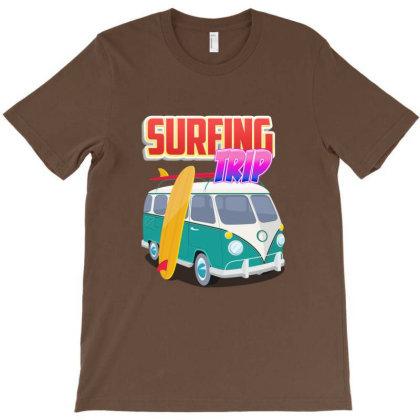 Surfing Trip T-shirt Designed By Dev18