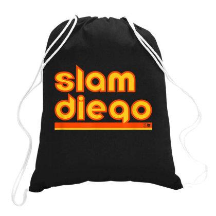 Officially Licensed Tatis   Machado   Slam Diego Drawstring Bags Designed By Rame Halili