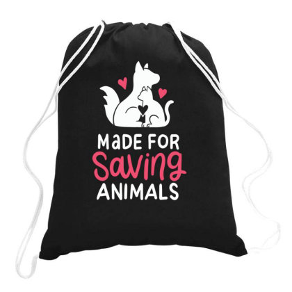 Made For Animal Rescue Animal Lovers Drawstring Bags Designed By Rishart