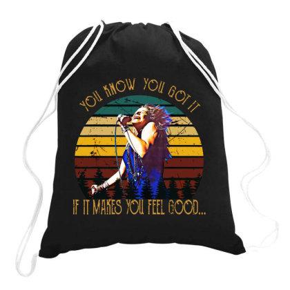 Vintage Rock Musician Drawstring Bags Designed By Kimochi
