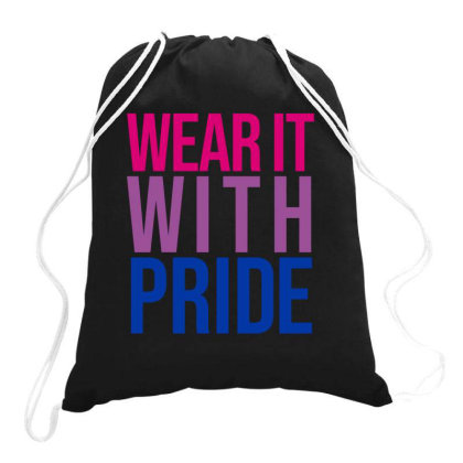 Wear It With Pride Bisexual Flag Drawstring Bags Designed By Prince Ali