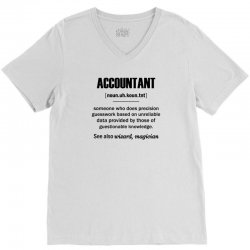 Accountant Gifts - Accountant Definition V-Neck Tee | Artistshot