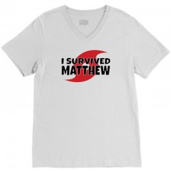 I Survived Hurricane Matthew V-Neck Tee | Artistshot