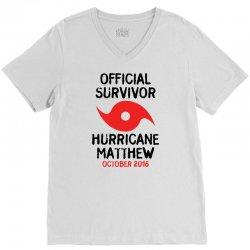Official Survivor Hurricane Matthew V-Neck Tee | Artistshot