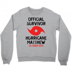 Official Survivor Hurricane Matthew Crewneck Sweatshirt | Artistshot