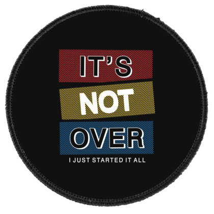 Motivational Inspirational Words Quotes Lettering Typography  T Shirt Round Patch Designed By D2putri