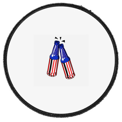 Cheers America Round Patch Designed By Akin