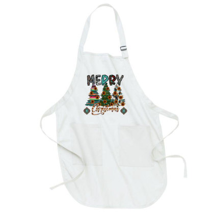 Western Merry Christmas Full-length Apron Designed By Badaudesign