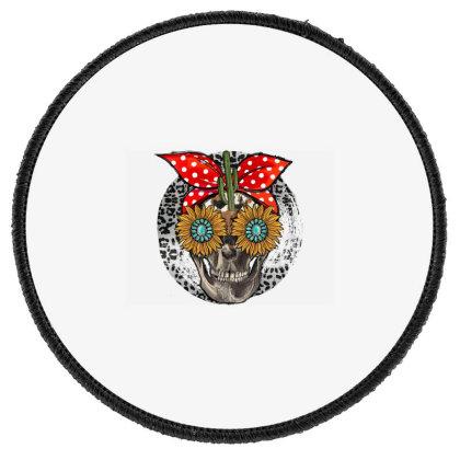 Western Skull Round Patch Designed By Badaudesign