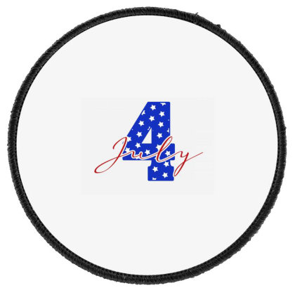 July 4 Round Patch Designed By Akin