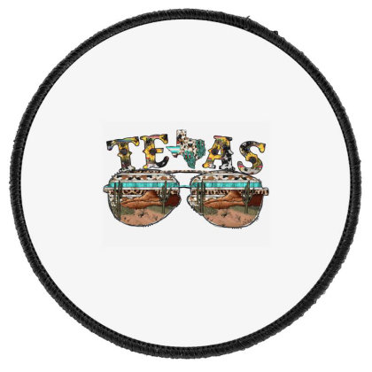 Western Texas Glasses Round Patch Designed By Badaudesign
