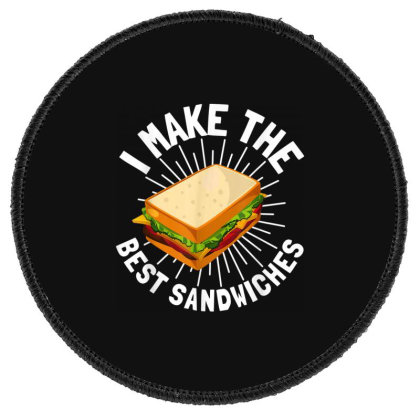 Hoagie Sub Artist And Sandwich Maker Round Patch Designed By Koopshawneen