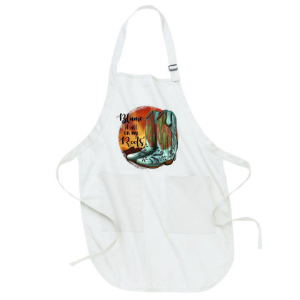 Blame It All On My Roots Full-length Apron Designed By Jahusdesignshop