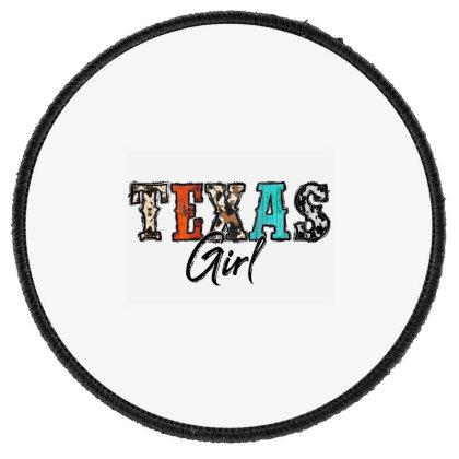 Texas Girl Round Patch Designed By Badaudesign